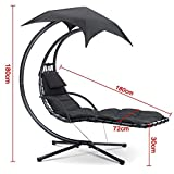 World Pride Heavy Duty Hanging Dream Lounger Chair Chaise Porch Swing Hammock Arc Stand Patio Canopy