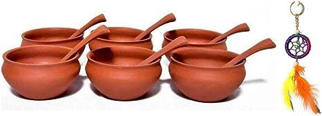 Azofra Soup Bowl Terracotta 550 ml 6.2 cm Height Diameter 13.5 cm Pack of 2 Units