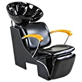 Icarus ''Reynolds'' Black Salon Shampoo Beauty Chair & Sink Bowl Backwash Unit