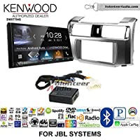 Volunteer Audio Kenwood DMX7704S Double Din Radio Install Kit with Apple CarPlay Android Auto Bluetooth Fits 2010-2013 Toyota 4Runner with Amplified System