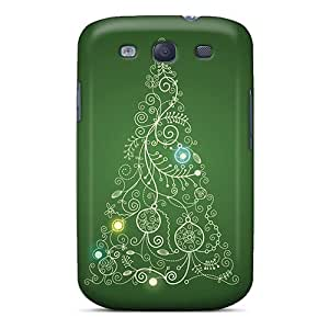 Jthicks Design High Quality Christmas Tree Swirl Cover Case With Excellent Style For Galaxy S3