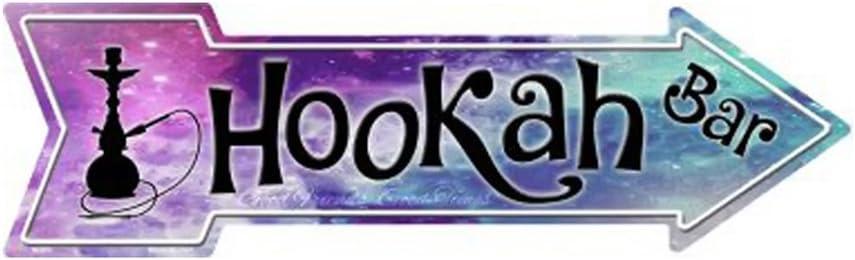 Smart Blonde Hookah Bar Novelty Metal Arrow Sign A-266