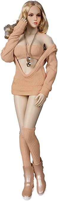 Phicen 1//6 Fasion Beauty Belt Cap Sweater Suit for 12 Female Body Orange PHICEN LIMITED