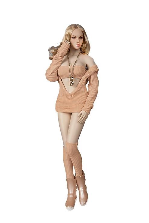 6c4493196c5 Amazon.com: Phicen 1/6 Fasion Beauty Belt Cap Sweater Suit for 12 ...