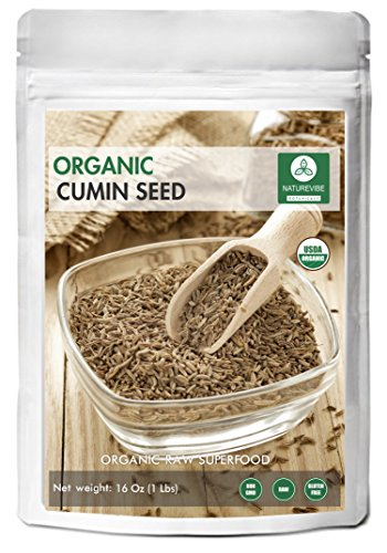 Whole Cumin Seeds (1 Pound ) - Organic Raw Cuminum cyminum (Seed Whole Organic Pouch)