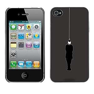 Be Good Phone Accessory // Dura Cáscara cubierta Protectora Caso Carcasa Funda de Protección para Apple Iphone 4 / 4S // Blindfolded