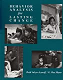 img - for Behaviour Analysis for Lasting Change by Elizabeth Sulzer-Azaroff (1991-01-31) book / textbook / text book
