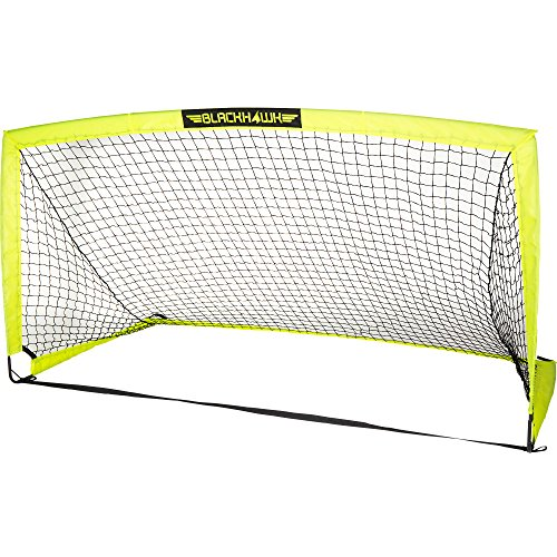 Franklin Sports Blackhawk Portable Soccer Goal, Optic Yellow, 12' x 6' ()