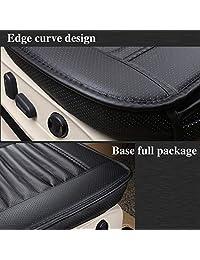 2 unidades funda para asiento delantero para auto, silla de oficina con carbón vegetal de bambú de piel sintética., Negro