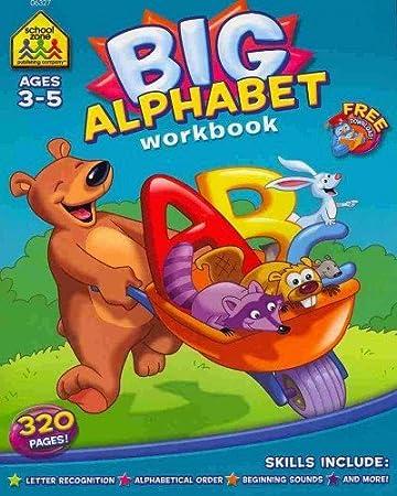 Amazon.com: Big Alphabet P-K Workbook: School Zone Publishing ...