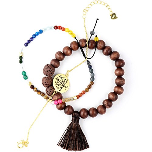 - New Lava Rock Natural Stone Essential Oil Diffuser Tassel Bracelets for Aromatherapy   NATURAL Bug Mosquito Repellent   Distance Friendship Mala Tibetan Prayer Beaded   20 OPTIONS   Gift Box Included