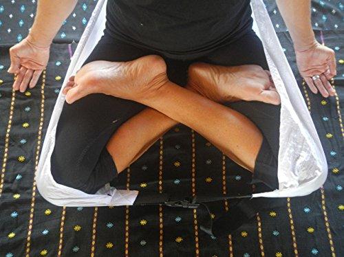 Padma Seat Best Yoga Seat Strap, Meditation Seat Stool Cushion Belt, Support for Effortless Sitting & Meditation in the Lotus Asana position
