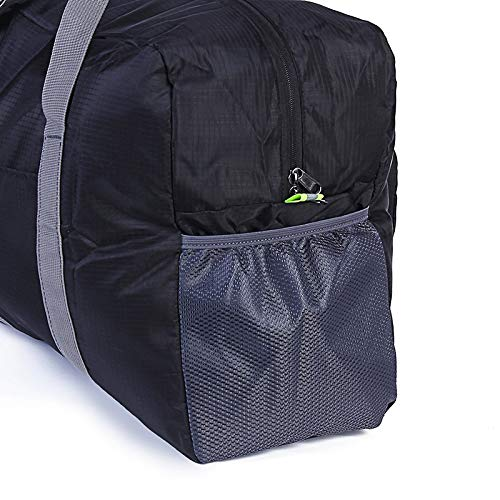 GYYlucky Korean Version of Waterproof Folding Luggage Bag Nylon Large Capacity Storage Bag Outdoor Sports Portable Travel Bag Color : A