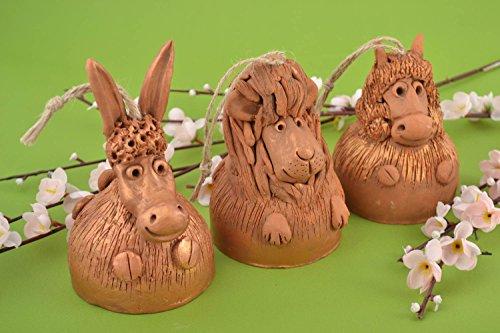 Handmade Figurine Designer Statuette Set Of 3 Items Unusual Souvenir Decor Ideas