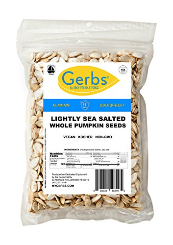 - Lightly Sea Salted Whole Pumpkin Seeds, 1 LB. by Gerbs – Top 12 Food Allergy Free & NON GMO - Vegan & Kosher - Premium Quality Grown in United States