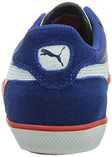 Puma Icra Trainer Suede Vulc Jr - Zapatilla Baja Niños Azul (Limoges/White/High Risk Red 01)
