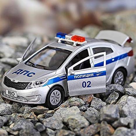 Amazon Com Diecast Metal Model Car Kia Rio Russian Police Toy Die