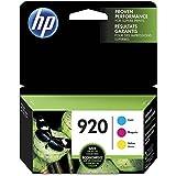 HP 920 Cyan, Magenta & Yellow Original Ink Cartridges, 3 Cartridges (CH634AN, CH635AN, CH636AN)