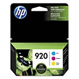 HP 920 Cyan, Magenta & Yellow Original Ink Cartridges, 3 Cartridges (CH634AN, CH635AN, CH636AN) for HP Officejet 6000 6500 7000 7500