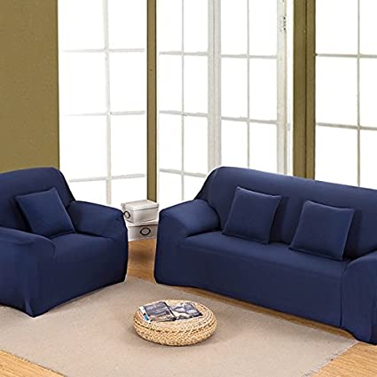 Buy Pinkdose 4 Seater L Shaped Sectional Couch Covers Navy Blue