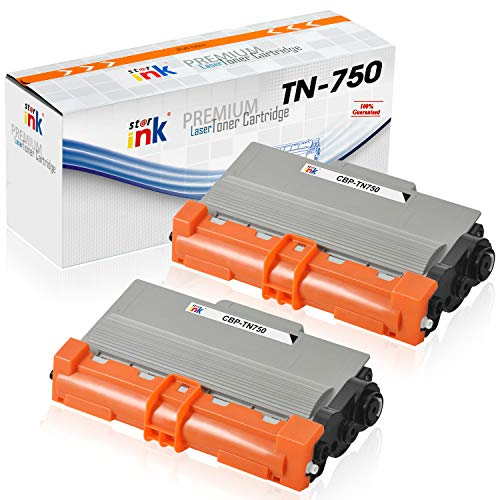 Starink Compatible Toner Cartridge Replacement for Brother TN750 TN-750 TN720 TN-720 Use with DCP-8110DN HL-5470DW HL-5450DN HL-6180DW MFC-8510DN MFC-8710DW MFC-8910DW MFC-8950DW (8,000 Yield, 2-Pack)