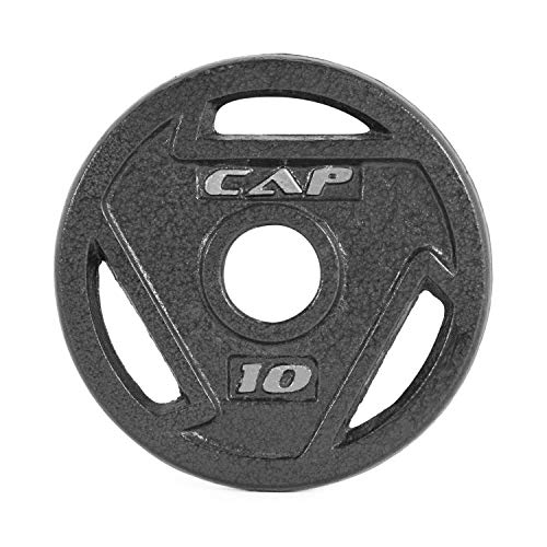 (CAP Barbell 2-Inch Olympic Grip Weights, Single, Black, Various Sizes)