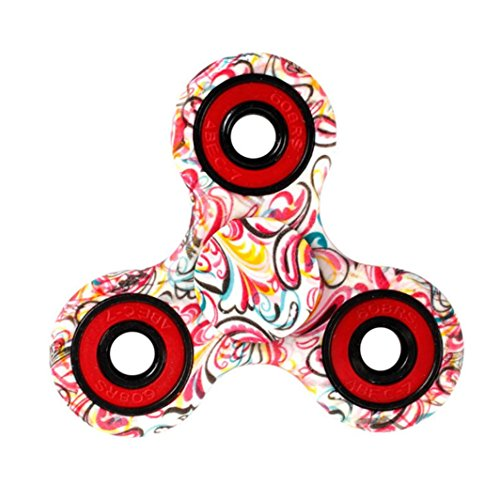 MNtech NEW Tri-Spinner Fidget Hand Spinner Camouflage Multi-Color, EDC Focus Toys (D)