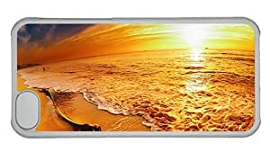 Hipster awesome iPhone 5C cover Great Sunset Beach PC Transparent for Apple iPhone 5C