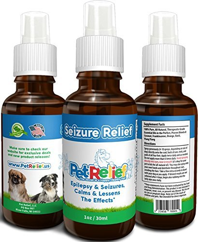 PET RELIEF Dog Seizure Relief, Safe & Natural Dogs With Seizures Epilepsy Spray,! 30ml Seizure Relief For Dogs, Better Than Medication, No Side Effects! Made In USA By
