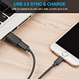 [2in1 Pack] Right Angle Degree 3.1 USB C Male to A