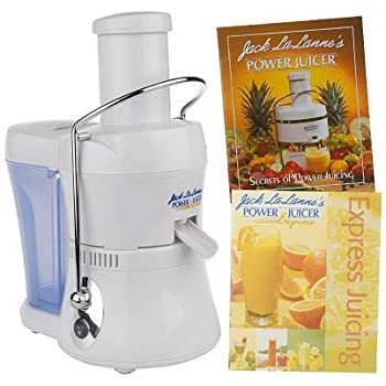 Amazon jack lalanne power juicer electric centrifugal juicers jack lalanne compact power juicer express deluxe mt 1020 with 2 recipe books white fandeluxe Images