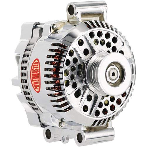Powermaster Performance 17768 Chrome Alternator (3G 140A 6 Groove Pulley Large Frame Transverse ()
