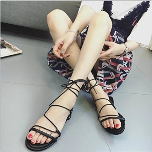 Danza Infradito Piatti Scarpe Donna Da Con Moda bohemia Bendare Vintage Sandali Nero Eleganti Bambino Bassi Bende Estate Homebaby modello Sposa p7U4y