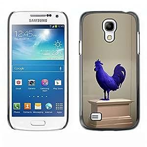 Shell-Star Art & Design plastique dur Coque de protection rigide pour Cas Case pour SAMSUNG Galaxy S4 mini VERSION! / i9190 / i9192 ( Rooster Museum Art Statue Modern Blue )
