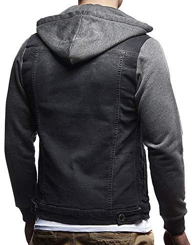 Di Con Scuro Di Huateng Grigio Cappuccio Degli Transizione Giacca Jeans Uomini wUft6C