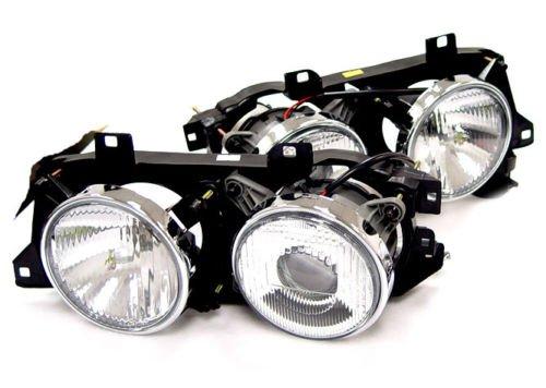 Euro Smiley Ellipsoid Projector Glass Headlight For 88-96 BMW E32 E34 5 7 Series 740i 525i 540i 750i