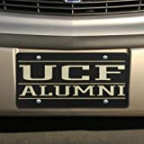 ucf alumni license plate frame - Football Fanatics NCAA UCF Knights Black Mirrored Alumni License Plate-