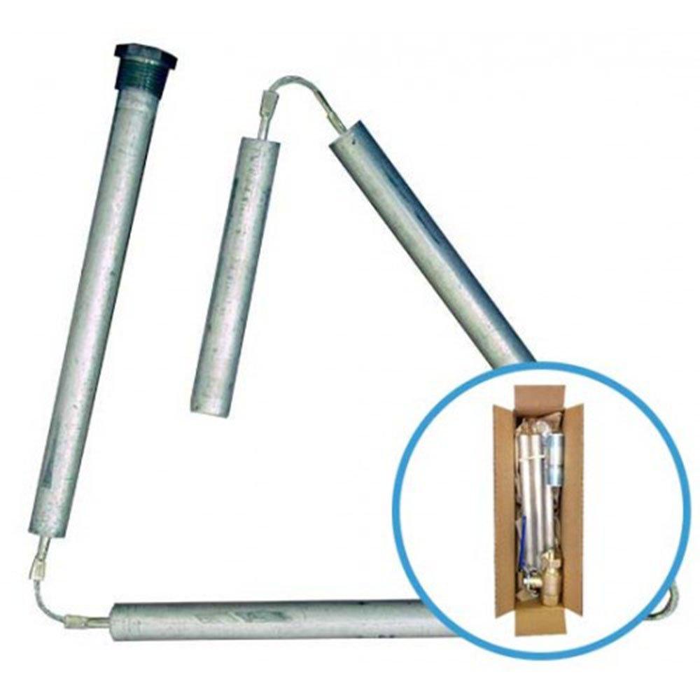 Blue Lightning Aluminum / Zinc Flexible Anode Rods, Hex Plug, 42'' (Box of 25) by Blue Lightning