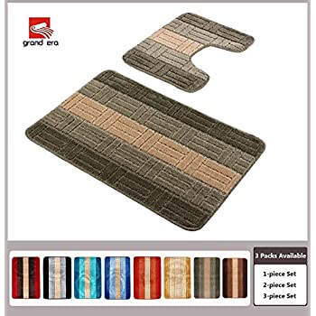 Grand Era 2 Piece Bath Mat Set Polypropylene Fiber 22 X 39 With