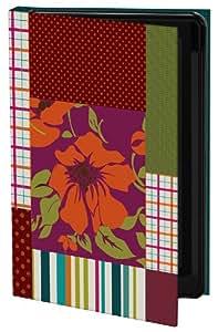 Keka Simi Gauba Designer Classic - Funda rígida tipo libro para Samsung Galaxy S3, diseño de flores, cuadros y rayas