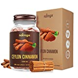 Ceylon Cinnamon Capsules 200 VCaps 1400mg/ Serving by Natrogix - Great Antioxidant Helps Balance Blood Sugar Level, Supports Heart Health, Less Coumarin, Made in USA
