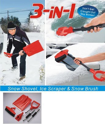 Good Ideas Collapsible 3 in 1 Snow Shovel with long handl...