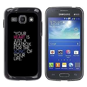 Paccase / SLIM PC / Aliminium Casa Carcasa Funda Case Cover para - Heart Beatbox Quote Music Life Song Love - Samsung Galaxy Ace 3 GT-S7270 GT-S7275 GT-S7272