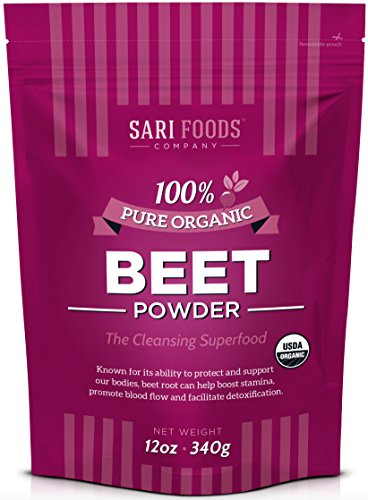 Organic Beet Powder (12 Ounce) Natural Plant Based Superfood: boost stamina, support blood flow & promote detoxification with whole food, vegan & paleo friendly nitrates, betaine, betalin & folic acid