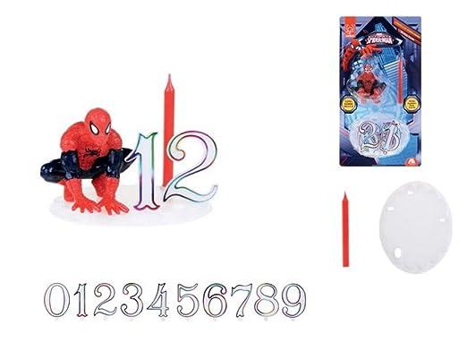 Decoración para tartas (13 piezas Spider-Man 3d Vela para ...