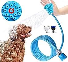 Jasonwell Ducha para mascotas gatos perro mascota baño accesorios multifuncional 3 en 1 pulverizador de ducha masaje y...