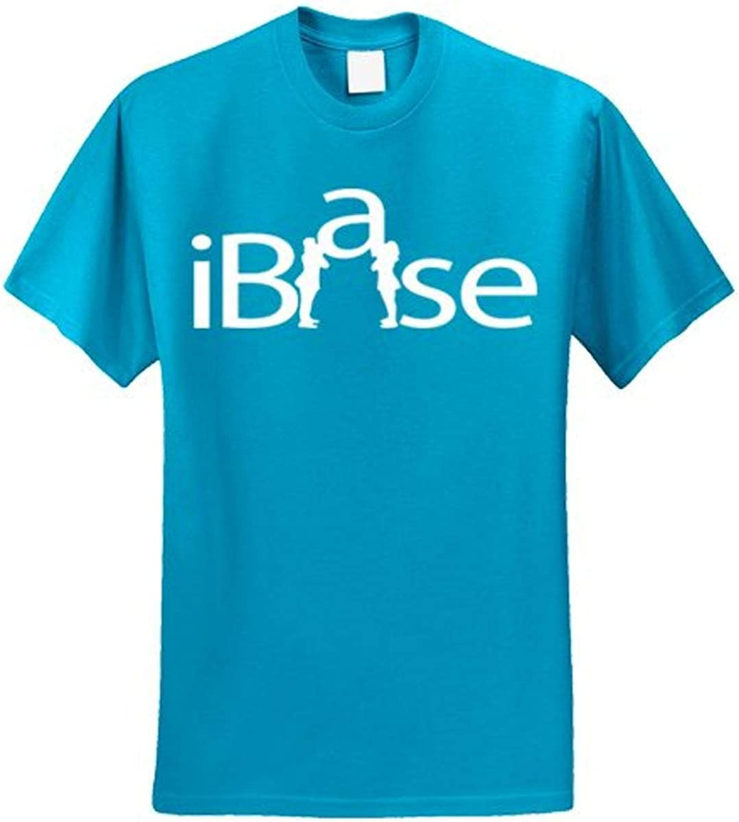 Chosen Bows Neon Blue iBase T-Shirt Adult Large White Print