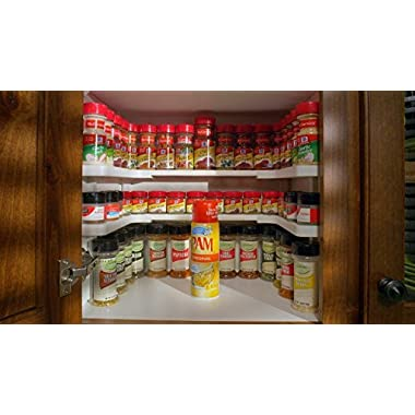 Spice Storage Shelf, Stackable Organizer. Set of 2
