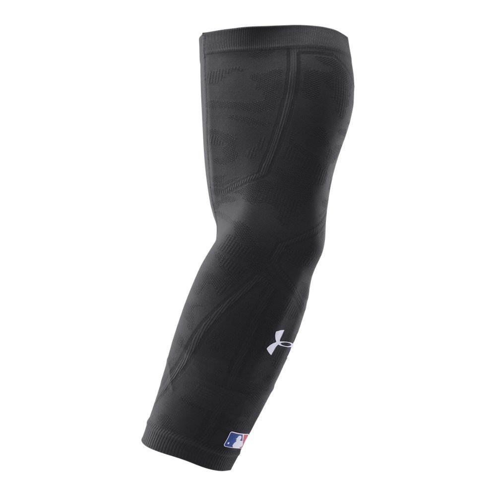Under Armour Mens Knit Baseball Arm Sleeve, Black/Black, Large/X-Large