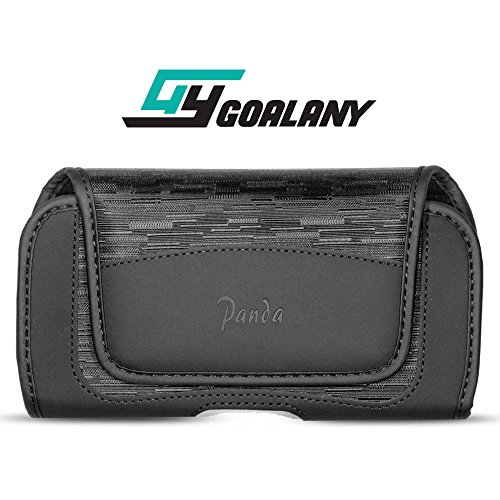 GOALANY Universal Holster Case for Extra Large Phone [Durable Leather+Nylon Flip Pouch] for Galaxy S9 / s9 Plus / S9+ / S8 Plus/iPhone X XS Max iPhone XR/Note 9 8,Pixel 2 XL Belt Clip Holder (L6)